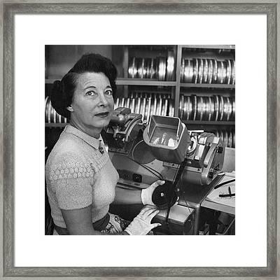 Portrait Of Barbara Mclean Framed Print by Jean Howard