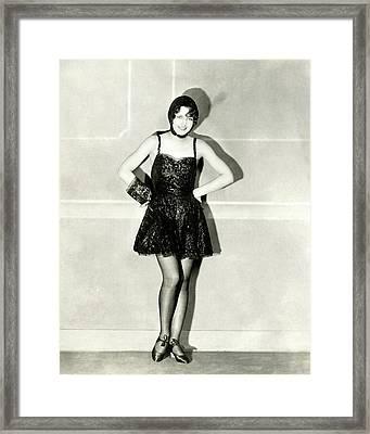Portrait Of Barbara Stanwyck Framed Print