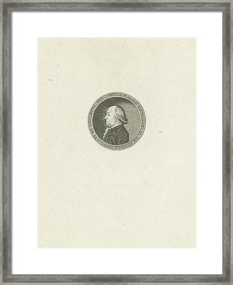 Portrait Of Baron Adolph Warner Pallandt Van Eerde Framed Print by Abraham Jacobsz. Hulk