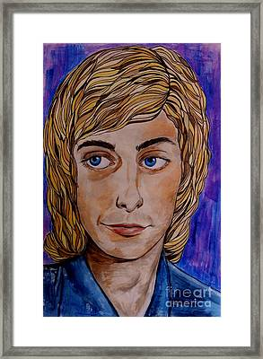 Portrait Of Barry 2 Framed Print