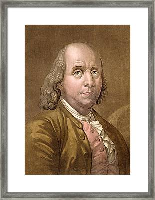 Portrait Of Benjamin Franklin Framed Print by Gallo Gallina