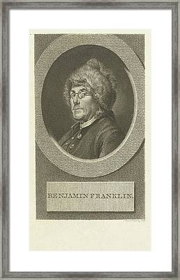 Portrait Of Benjamin Franklin, Lambertus Antonius Claessens Framed Print by Lambertus Antonius Claessens
