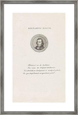 Portrait Of Bernard Bosch Framed Print
