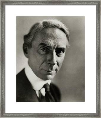 Portrait Of Bertrand Russell Framed Print by Florence Vandamm