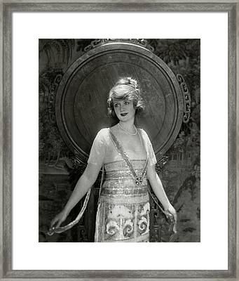 Portrait Of Billie Burke Framed Print by Baron Adolphe De Meyer