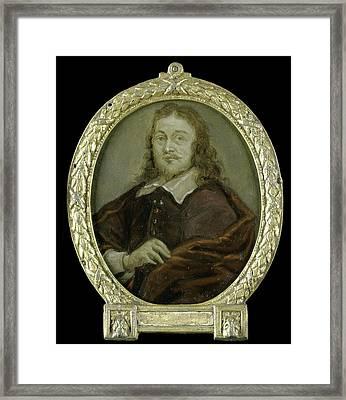 Portrait Of Bonaventura Peeters I, Painter Framed Print