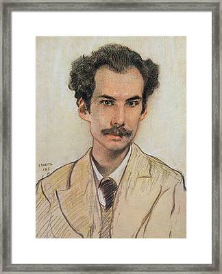 Portrait Of Boris Nikolayevich Bugaev Framed Print by Leon Bakst