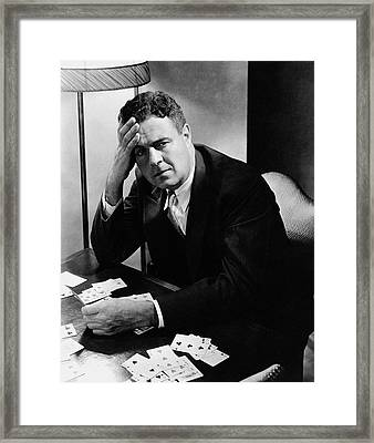 Portrait Of Bridge Player And Author Oswald Framed Print by Lusha Nelson