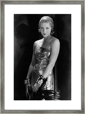 Portrait Of Brigitte Helm Framed Print by George Hoyningen-Huene