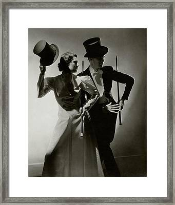 Portrait Of Buddy And Vilma Ebsen Framed Print by Lusha Nelson