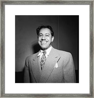 Portrait Of Cab Calloway Framed Print by William Gottlieb