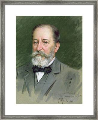 Portrait Of Camille Saint-saens Framed Print