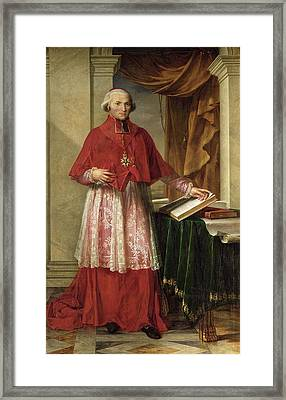 Portrait Of Cardinal Joseph Fesch 1763-1839 1806 Oil On Canvas Framed Print by Charles Meynier