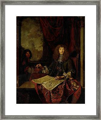 Portrait Of Carel Quina 1620-89, Knight Of The Holy Framed Print by Litz Collection