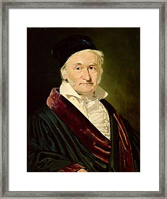 Portrait Of Carl Friedrich Gauss, 1840 Oil On Canvas Framed Print