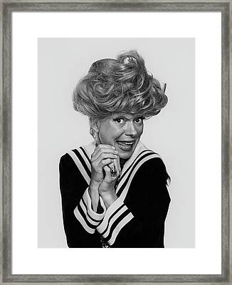 Portrait Of Carol Channing Framed Print by Chadwick Hall