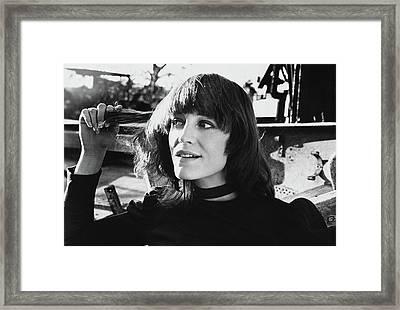 Portrait Of Carrie Snodgress Framed Print