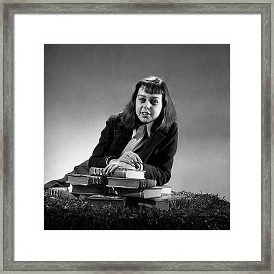 Portrait Of Carson Mccullers Framed Print