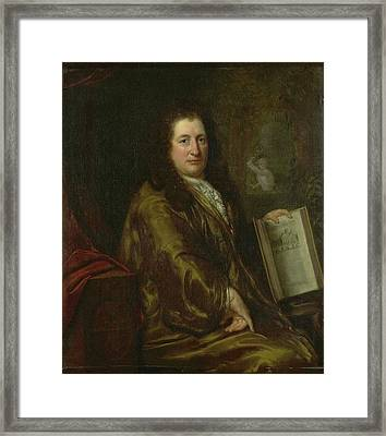 Portrait Of Caspar Commelin, Bookseller, Newspaper Framed Print