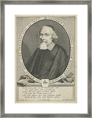Portrait Of Casparus Keidtwerdius, Cornelis Meyssens Framed Print by Cornelis Meyssens And Joannes Meyssens