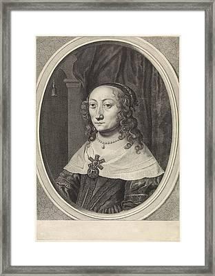 Portrait Of Catherina Charlotta, Countess Palatine Framed Print