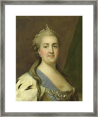 Portrait Of Catherine II, Empress Of Russia Catherine Framed Print