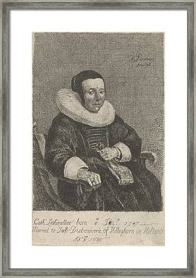 Portrait Of Catherine Lethieullier, Isaack Luttichuys Framed Print