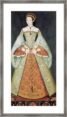 Portrait Of Catherine Parr , 1545 Framed Print by Master John