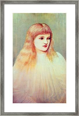 Portrait Of Cecily Horner, 1895 Framed Print by Sir Edward Coley Burne-Jones