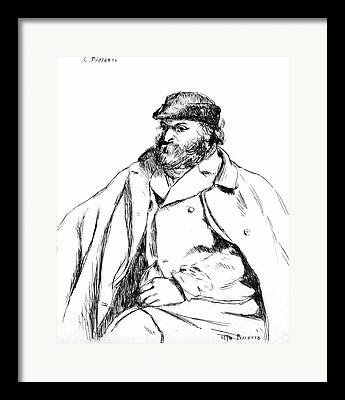 Camille Pissarro Drawings Framed Prints