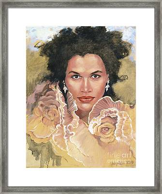 Portrait Of Chae  Framed Print
