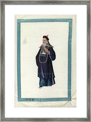 Portrait Of Chaonj Kwang Framed Print by British Library