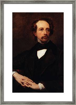 Portrait Of Charles Dickens Framed Print by Ary Scheffer