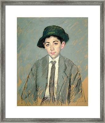 Portrait Of Charles Dikran Kelekian Framed Print by Mary Stevenson Cassatt