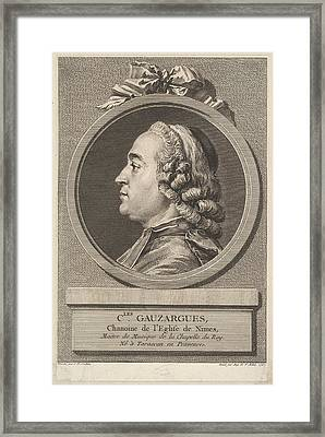 Portrait Of Charles Gauzargues Framed Print
