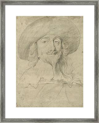 Portrait Of Charles I Framed Print by Sir Anthony van Dyck