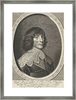 Portrait Of Charles Louis, Accept Prince Of The Palatinate Framed Print by Willem Jacobsz. Delff