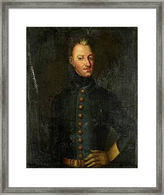 Portrait Of Charles Xii, King Of Sweden, Copy After David Framed Print by Litz Collection