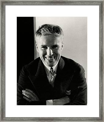 Portrait Of Charlie Chaplin Framed Print