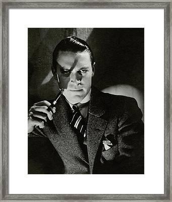 Portrait Of Chester Morris Framed Print by Edward Steichen