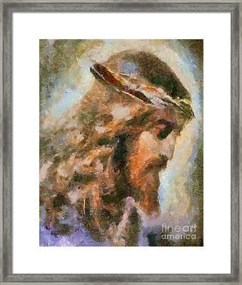 Portrait Of Christ Framed Print