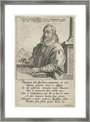 Portrait Of Christopher Plantin, Hendrick Goltzius Framed Print