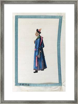 Portrait Of Chun Lou Framed Print by British Library