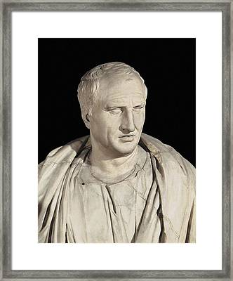 Portrait Of Cicero. Ca.   50 Bc. Roman Framed Print