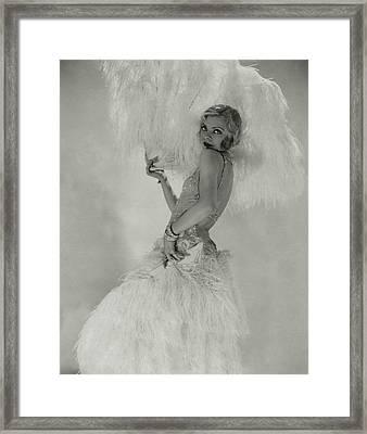Portrait Of Claire Luce Framed Print by Edward Steichen