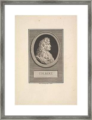 Portrait Of Colbert Framed Print