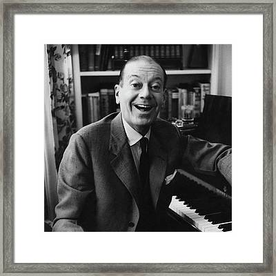 Portrait Of Cole Porter Sitting At His Piano Framed Print