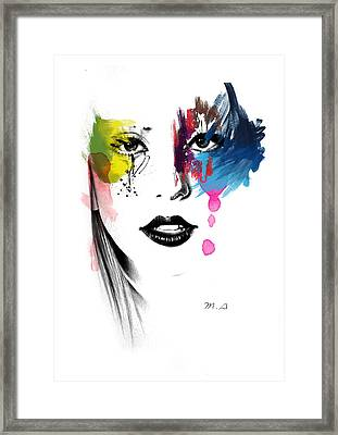 Portrait Of Colors   Framed Print
