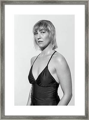 Portrait Of Confident Female Ballet Framed Print by Luis Alvarez