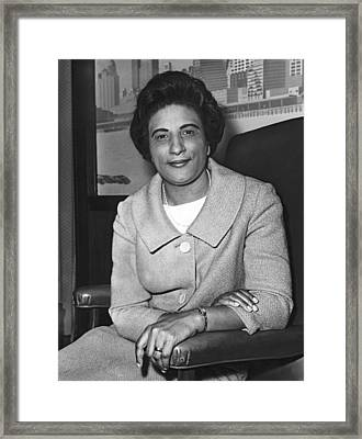 Portrait Of Constance Motley Framed Print by Fred Palumbo
